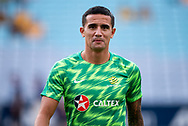 SYDNEY, AUSTRALIA - NOVEMBER 20: Australian forward Tim Cahill (4) during warm up at the international soccer match between Australia and Lebanon at ANZ Stadium in NSW, Australia. on November 20, 2018. (Photo by Speed Media/Icon Sportswire)