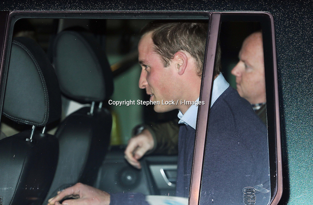 Prince William leaving  the King Edward VII hospital in London, as Duchess of Cambridge spends second day in hospital, Tuesday, 4th December 2012  Photo by:  Stephen Lock /  i-Images