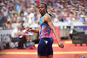 Aries Merritt (USA checks his winning time during the Muller Anniversary Games at the London Stadium, London, England on 9 July 2017. Photo by Jon Bromley.