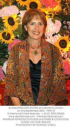 Actress PENELOPE WILTON at a dinner in London on 2nd September 2003.  PMA 27