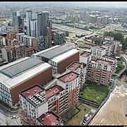 Torino 27/08/10, la Spina 3 è una vasta area di riconversione della ex zona industriale presente tra i quartieri di San Donato, Madonna di Campagna e Borgata Vittoria,. ..Nella fotografia il Vitaly park  e villaggio Media