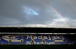 A rainbow forms over the Madejski Stadium home of Reading FC - Mandatory byline: Robbie Stephenson/JMP - 07966 386802 - 22/09/2015 - FOOTBALL - Madejski Stadium - Reading, England - Reading v Everton - Capital One Cup