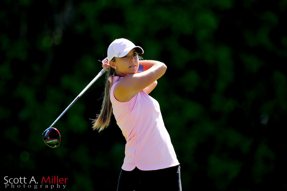 Alexandria Buelow during the final round of the Symetra Tour's Guardian Retirement Championship at Sara Bay in Sarasota, Florida April 28, 2013. ..©2013 Scott A. Miller