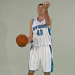 26 September 2008:  Ryan Bowen (40) poses for a portrait during media day for the New Orleans Hornets at the New Orleans Arena in New Orleans, LA.