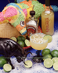 Margarita limes salt ice pinata Margarita party holiday celebration