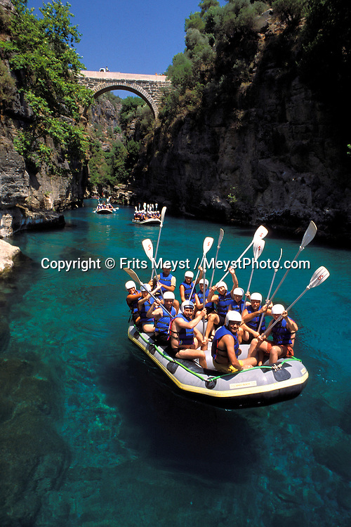 Alanya, Antalya, Turkey, 2004. Rafting on the Koprulu river in the mountains. Many holidaymakers find their way to the Turkish riviera to enjoy the sun and Turkish hospitality. Photo by Frits Meyst/Adventure4ever.com
