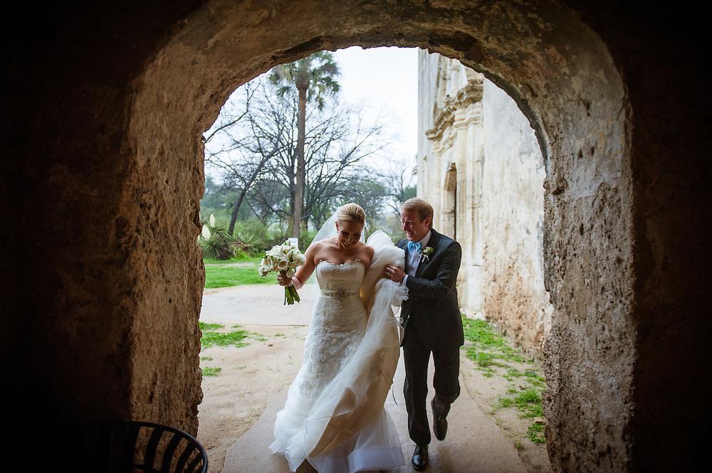 20120311Saturday173656.Shelley Myers and Charles Watson wedding Saturday, March 10, 2012 in San Antonio..Mission Concepcion, Westin Riverwalk.Saturday3/10/12.Photo © Bahram Mark Sobhani