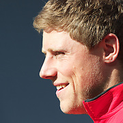 Rhys Priestland, Wales, on the sideline during the Wales teams Captain's run at Eden Park in preparation for the third against fourth play off match with Australia at the IRB Rugby World Cup tournament, Auckland, New Zealand. 20th October 2011. Photo Tim Clayton...