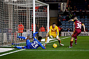 Peterborough United defender Tyler Denton (23) nearly gets on the end of this cross during the EFL Sky Bet League 1 match between Peterborough United and Bradford City at The Abax Stadium, Peterborough, England on 17 November 2018.