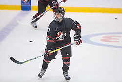 Dawson Baker (Trenton Golden Hawks) seen representing Team Canada Black in the 2016 World Under-17 Hockey Challenge played in Sault Ste. Marie, Ont. Photo by Kenneth Armstrong for CHL Images