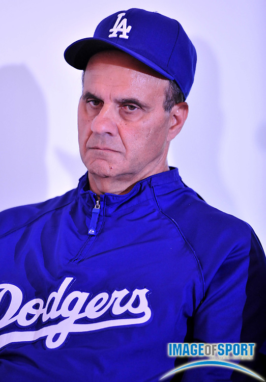 Jul 31, 2008; Los Angeles, CA, USA; Los Angeles Dodgers manager Joe Torre (6) at press conference to announce selection of Dodger Stadium as the site of the 2009 World Baseball Classic championship.
