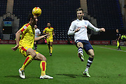 Preston North End Midfielder Paul Gallagher during the Sky Bet Championship match between Preston North End and Rotherham United at Deepdale, Preston, England on 2 January 2016. Photo by Pete Burns.