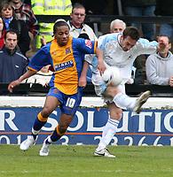 Photo: Mark Stephenson.<br />Shrewsbury Town v Torquay United. Coca Cola League 2. 24/03/2007. Shrewsbury's Derek Asamoah tries to win the ball