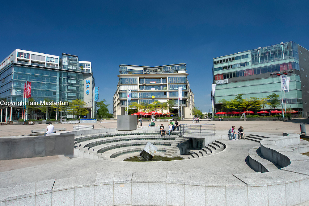 Office and commercial buildings in Media Park in Cologne Germany North Rhine-Westphalia