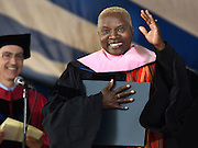 Honorary degrees were awarded at Yale University's 314th Commencement, New Haven, CT. Singer and activist Angelique Kidjo was a recipient.