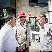 © Maria Muina I Sailingshots.es, 08/09/2017 - Vigo (Pontevedra) - Regata Rey Juan Carlos - El Corte Inglés Máster 2017, Sanxenxo 2017 - Dia 1. Recepción de Don Juan Carlos en el RCNS.