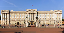 General view of Buckingham Palace in central London.