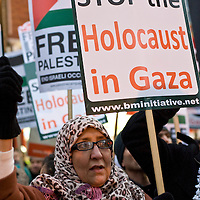 London Dec 29th Palestinian and anti israeli protesters gather outside the Israeli Embassy on Kensington High Street  to protest against the continue Israeli Air Strike agains Palestinian in the Gaza strip...Please telephone : +44 (0)845 0506211 for usage fees .***Licence Fee's Apply To All Image Use***.IMMEDIATE CONFIRMATION OF USAGE REQUIRED.*Unbylined uses will incur an additional discretionary fee!*.XianPix Pictures  Agency  tel +44 (0) 845 050 6211 e-mail sales@xianpix.com www.xianpix.com