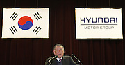 Hyundai Motor Group chairman Chung Mong-koo attends the company's opening ceremony for the year in Seoul January 2, 2013. Photo by Lee Jae-Won (SOUTH KOREA)  www.leejaewonpix.com