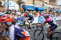 Sarah Roy (AUS) of Orica Scott Cycling Team crosses the finish line of Stage 8 of the Giro Rosa - a 141.8 km road race, between Baronissi and Centola fraz. Palinuro on July 7, 2017, in Salerno, Italy. (Photo by Balint Hamvas/Velofocus.com)