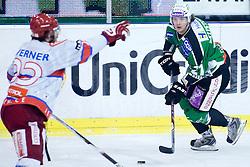 Tomi Mustonen (HDD Tilia Olimpija, #21) during ice-hockey match between HDD Tilia Olimpija and HK Acroni Jesenice in 41st Round of EBEL league, on Januar 23, 2011 at Hala Tivoli, Ljubljana, Slovenia. (Photo By Matic Klansek Velej / Sportida.com)