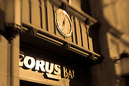 An image of the Corus Bank branch & corporate office in the North Center neighborhood of Chicago.