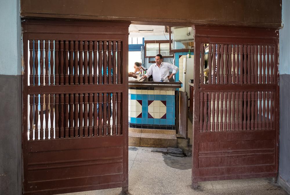 HAVANA, CUBA - CIRCA MAY 2016: Typical bar in Havana.