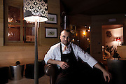 Italy, Madonna di Campiglio, Chalet DOLCE VITA, the chef of the restaurant Enrico CROATTI