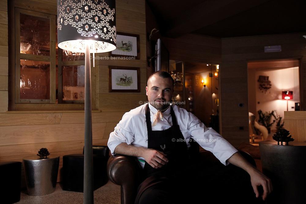 Italy, Madonna di Campiglio, Chalet DOLCE VITA, the chef of the restaurant Enrico CROATTI