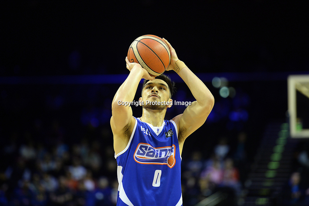 Wellington Saints' Shea Ili goes for a free throw during the NBL match between Wellington Saints v Southland Sharks, TSB Arena, Friday 19th May 2017. Copyright Photo: Raghavan Venugopal / www.photosport.nz