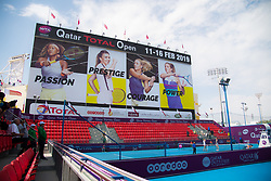 February 9, 2019 - Doha, QATAR - Ambiance during qualifications for the 2019 Qatar Total Open WTA Premier tennis tournament (Credit Image: © AFP7 via ZUMA Wire)