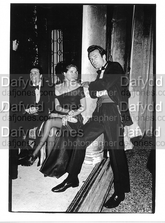 Sally Tadion and Count D'Assche. Ball given by Count Volpe. Venice. 1991. © Copyright Photograph by Dafydd Jones 66 Stockwell Park Rd. London SW9 0DA Tel 020 7733 0108 www.dafjones.com