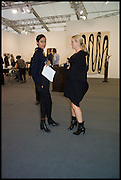 ANGELA BRAZOLA; SUSAN ALMRUD, Opening of Frieze art Fair. London. 14 October 2014