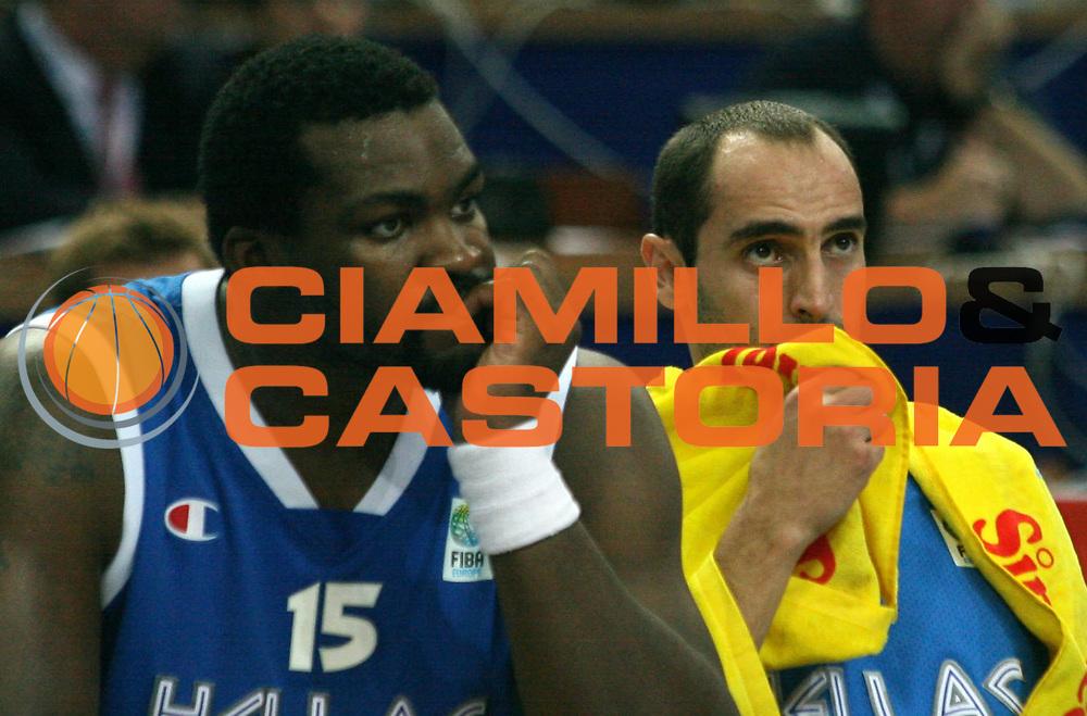 DESCRIZIONE : Katowice Poland Polonia Eurobasket Men 2009 Semifinale Semifinal Spagna Spain Grecia Greece<br /> GIOCATORE : Sofoklis Schortsanitis<br /> SQUADRA : Grecia Greece<br /> EVENTO : Eurobasket Men 2009<br /> GARA : Spagna Spain Grecia Greece<br /> DATA : 19/09/2009 <br /> CATEGORIA : delusione<br /> SPORT : Pallacanestro <br /> AUTORE : Agenzia Ciamillo-Castoria/A.Vlachos<br /> Galleria : Eurobasket Men 2009 <br /> Fotonotizia : Katowice  Poland Polonia Eurobasket Men 2009 Semifinale Semifinal Spagna Spain Grecia Greece<br /> Predefinita :
