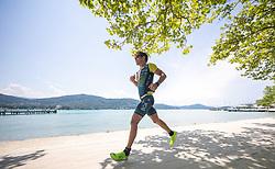 07.07.2019, Klagenfurt, AUT, Ironman Austria, Laufen, im Bild Paul Ruttmann (AUT) // Paul Ruttmann (AUT) during the run competition of the Ironman Austria in Klagenfurt, Austria on 2019/07/07. EXPA Pictures © 2019, PhotoCredit: EXPA/ Johann Groder