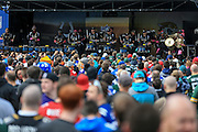 British fans enjoying the tailgate party during the International Series match between Indianapolis Colts and Jacksonville Jaguars at Wembley Stadium, London, England on 2 October 2016. Photo by Jason Brown.