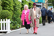 Racegoers enter the race course prior to the York Dante Meeting at York Racecourse, York, United Kingdom on 16 May 2018. Picture by Mick Atkins.