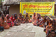 A Mother's Club in Gobindohuda village receives nutrition training from an employee of IFB. There are around 900 mothers clubs in the region improving the lives of an estimated 50,000 children. .Impact Foundation Bangladesh (IFB) provides care, support and treatment to people with disabilities in Bangladesh.