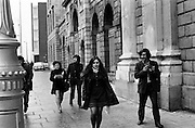 Bernadette Devlin MP arriving at the Four Courts as a defendant in a libel case. When she was elected as MP for Mid Ulster at the age of twenty-one, she was then the youngest member of parliament.<br />