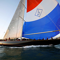Velsheda, J Class, Round the island Race, 2010, Cowes, Isle of Wight, UK, Sports Photography