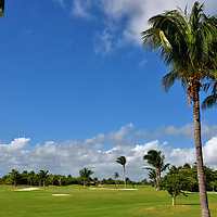 Golf Course Alternatives in Cancun, Mexico <br /> Cancun has six golf courses with prices ranging from $35 to $100 for 18 holes. The cost may be higher at courses connected to a resort for non-guests. Several offer great views of Nichupté Lagoon, the Caribbean or both. Two of them have the best reviews. The Puerto Cancun Golf Club (7107 yards, par 72) opened in 2013 based on a Tom Weiskopf design. The Riviera Cancun Golf Club (7,060 yards par 72) was designed by Jack Nicklaus in 2008. This is the Iberostar Club, part of the five-star Iberostar Cancún resort (formally the Hilton). After experiencing all of the links at Cancun, consider driving down to Playa del Carmen or the Riviera Maya for additional courses.