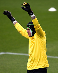 Ederson of Manchester City trains wearing protective head gear - Mandatory by-line: Matt McNulty/JMP - 12/09/2017 - FOOTBALL - City Football Academy - Manchester, England - Feyenoord v Manchester City - Training Session - UEFA Champions League - Group F