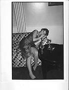 Girl asleep at Bubbles Rothermere dance. Claridges. 23 December 1985 *** Local Caption *** -DO NOT ARCHIVE-? Copyright Photograph by Dafydd Jones 66 Stockwell Park Rd. London SW9 0DA Tel 020 7733 0108 www.dafjones.com