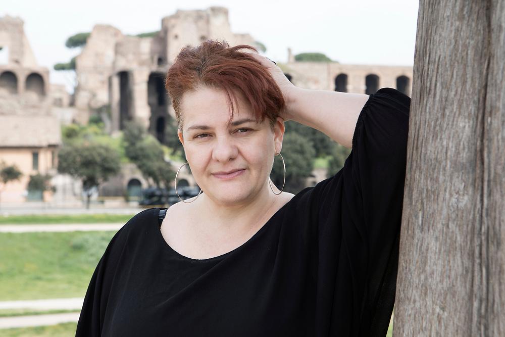 Rome, Italy, April 1, 2017. Cinzia Visciano, 47, lives in Rome, she graduated in education sciences. <br /><br />Roma, Italia, 1 Aprile 2017. Cinzia Visciano, 47 anni vive a Roma, laureata in scienze dell'educazione.