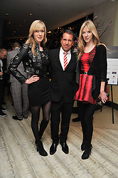Left to right, ANNETTE FELDER, RICHIE NOTAR and DANIELLA FELDER at the second night of the Tomodachi (Friends) Charity Dinners hosted by Chef Nobu Matsuhisa in aid of the Japanese committee for UNICEF held at Nobu Berkeley, Berkeley Street, London on 5th May 2011.