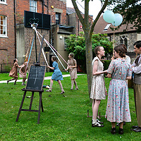 Crossing Lines by Anna Ledwich;<br /> Chichester Festival Youth Theatre;<br /> Chichester Cathedral & surrounds;<br /> 17th August 2019.<br /> <br /> © Pete Jones<br /> pete@pjproductions.co.uk