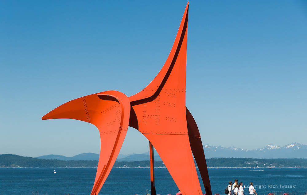 """Eagle"" sculpture by Alexander Calder on display at Olympic Sculpture Park, Seattle, Washington"