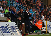Justin Edinburgh during the Pre-Season Friendly match between Gillingham and Brighton and Hove Albion at the MEMS Priestfield Stadium, Gillingham, England on 29 July 2015.