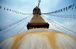 NEPAL KATHMANDU APR95 - Stupa of the Bodnath Temple in Kathmandu.<br /> <br /> jre/Photo by Jiri Rezac<br /> <br /> © Jiri Rezac 1995<br /> <br /> Tel: +44 (0) 7050 110 417<br /> Email: info@jirirezac.com<br /> Web: www.jirirezac.com