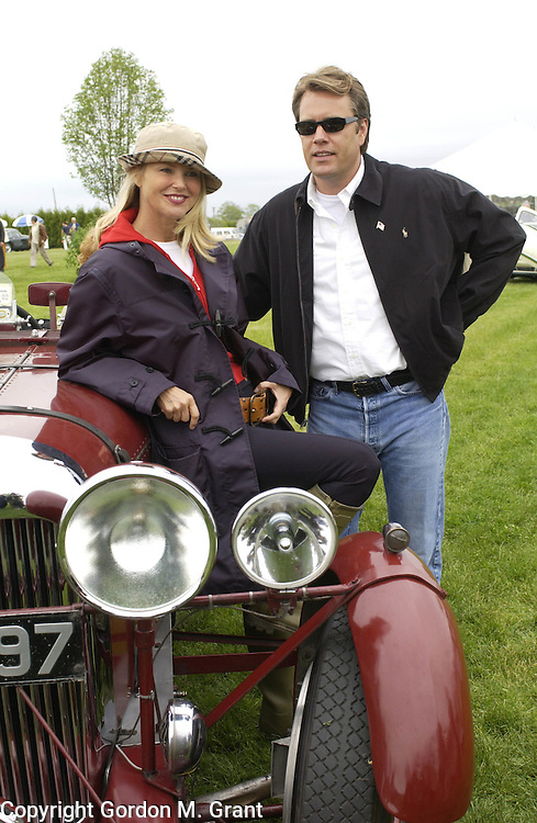 Bridgehampton, NY - 052602 - Model Christie Brinkley with husband Peter Cook at the 2002 Hamptons Concours dÕElegance car show in Bridgehampton, NY. ...(Photo by Gordon M. Grant/Splash News)